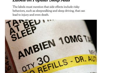 FDA Warns Public About Sleep Aid Side Effects — Takes Action In… 2019!
